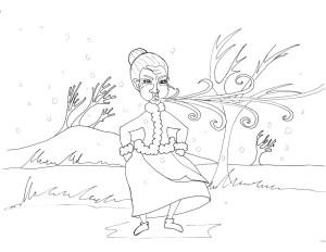 Angry Baba Marta - coloring