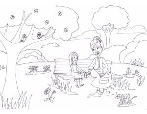Happy Baba Marta - coloring