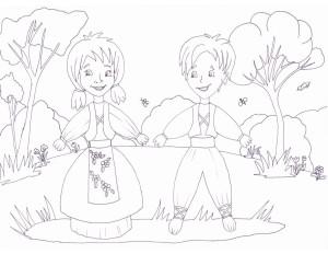Pijo and Penda - coloring